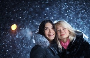 Picture of friends in the snow
